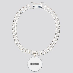 Bar Code Fully Rely On God Charm Bracelet, One Cha