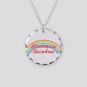 Wisconsin Rainbow Girls Necklace Circle Charm