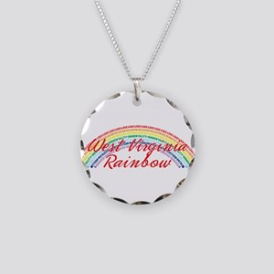 West Virginia Rainbow Girls Necklace Circle Charm