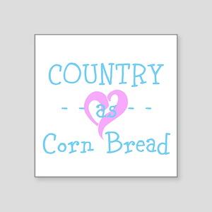 Country As Corn Bread In Blue Sticker