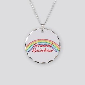 Vermont Rainbow Girls Necklace Circle Charm