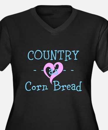 Country as Corn Bread in blue Plus Size T-Shirt