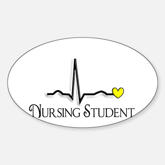 Nursing Student XXX Sticker (Oval)
