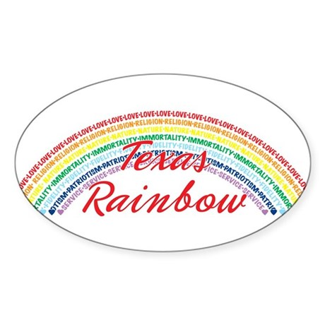 Texas Rainbow Girls Sticker (Oval)