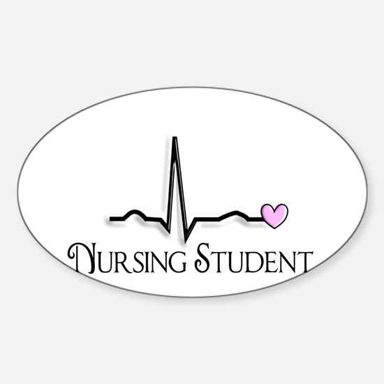 Nursing Student XXX Sticker (Oval)