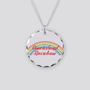 Queensland Rainbow Girls Necklace Circle Charm
