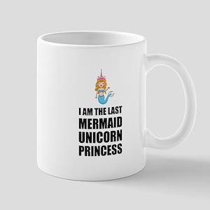 Last Mermaid Unicorn Princess Mugs
