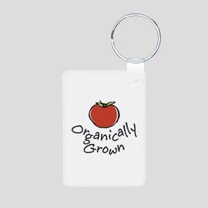 Organically Grown Aluminum Photo Keychain