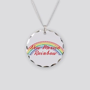 New Mexico Rainbow Girls Necklace Circle Charm