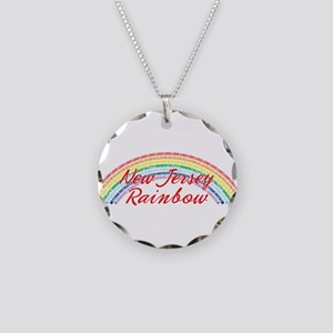 New Jersey Rainbow Necklace Circle Charm