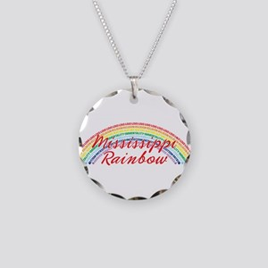 Mississippi Rainbow Girls Necklace Circle Charm