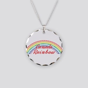 Canada Rainbow Girls Necklace Circle Charm