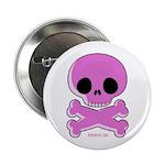 pink skull Button