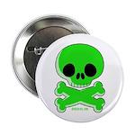 green skull Button