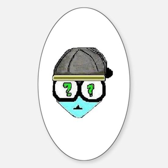 Cute White hood Sticker (Oval)