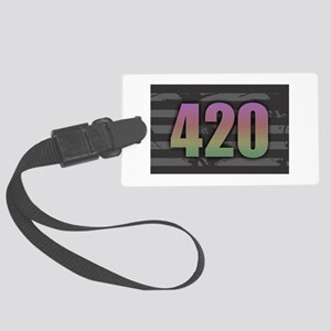 420 - Dark Rainbow Large Luggage Tag