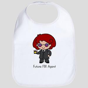 Future FBI Agent - girl Bib
