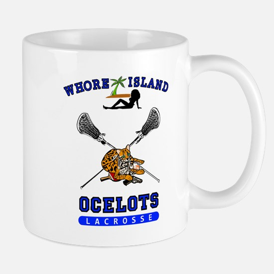 Whore Island Ocelots Lacrosse Team Mugs