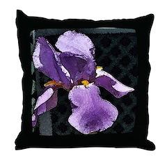 Iris square Throw Pillow