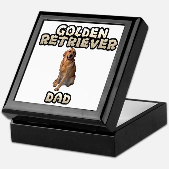 Golden Retriever Dad Keepsake Box
