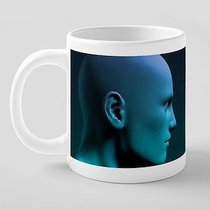 Man vs Machine Competing in 20 oz Ceramic Mega Mug
