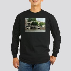 Canal bridge, Amsterdam, Holla Long Sleeve T-Shirt