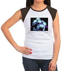 Dyed Silk Women's Cap Sleeve T-Shirt