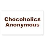CHOCOHOLICS ANONYMOUS Rectangle Sticker
