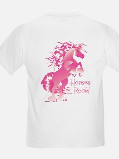 Horses Rock Pink T-Shirt