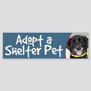 Adopt a Shelter Pet Black Lab Bumper Sticker