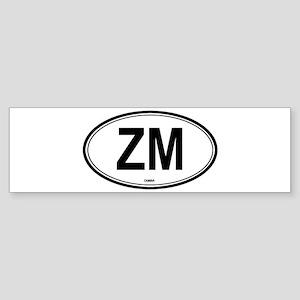 Zambia (ZM) euro Bumper Sticker