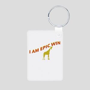I AM EPIC WIN Aluminum Photo Keychain