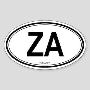 South Africa (ZA) euro Oval Sticker