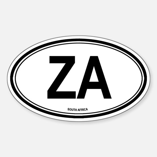 South Africa (ZA) euro Oval Decal