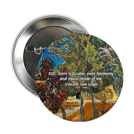Artist Van Gogh Painting Button