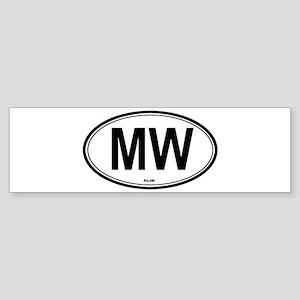 Malawi (MW) euro Bumper Sticker