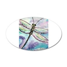 Dragonfly, awesome, 22x14 Oval Wall Peel