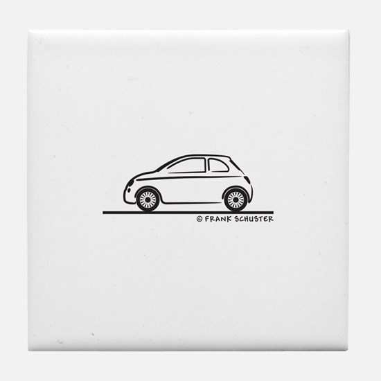 New Fiat 500 Cinquecento Tile Coaster
