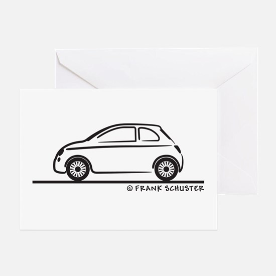 New Fiat 500 Cinquecento Greeting Card