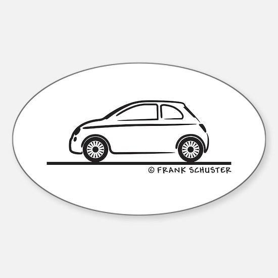 New Fiat 500 Cinquecento Sticker (Oval)
