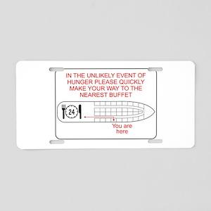 Hunger Emergency Aluminum License Plate