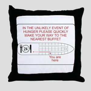 Hunger Emergency Throw Pillow