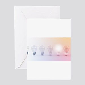 Creative Thinking with Light Bulb I Greeting Cards