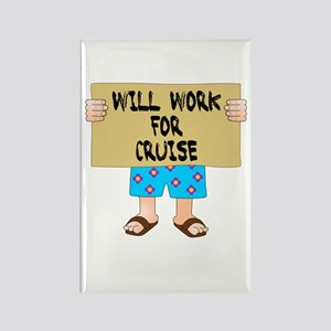 Will Work for Cruise Rectangle Magnet