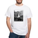 Yosemite Falls in B&W t-shirt--white