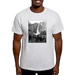 Yosemite Falls in B&W, t-shirt--ash grey