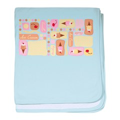 Ice Cream Blocks baby blanket
