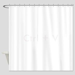 Ctrl + V Shower Curtain
