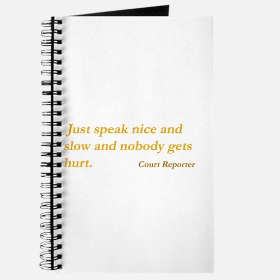 Speak nice and slow - Journal