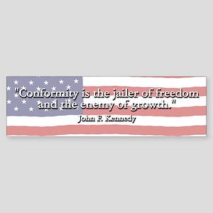 John F. Kennedy Quote Bumper Sticker